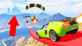 I ATTEMPTED WORLDS LONGEST STUNT JUMP! (GTA 5 Funny Moments)