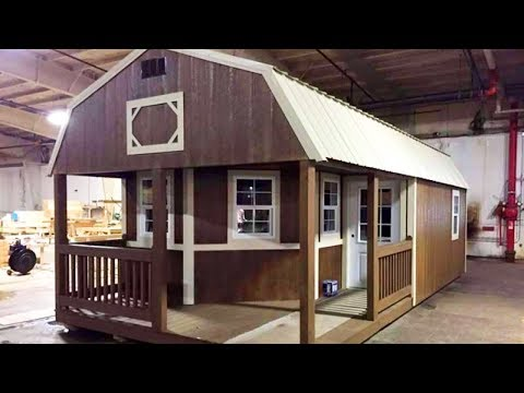 The Tiny Shed Has Been Turned Into A Full-Functioning Home - YouTube
