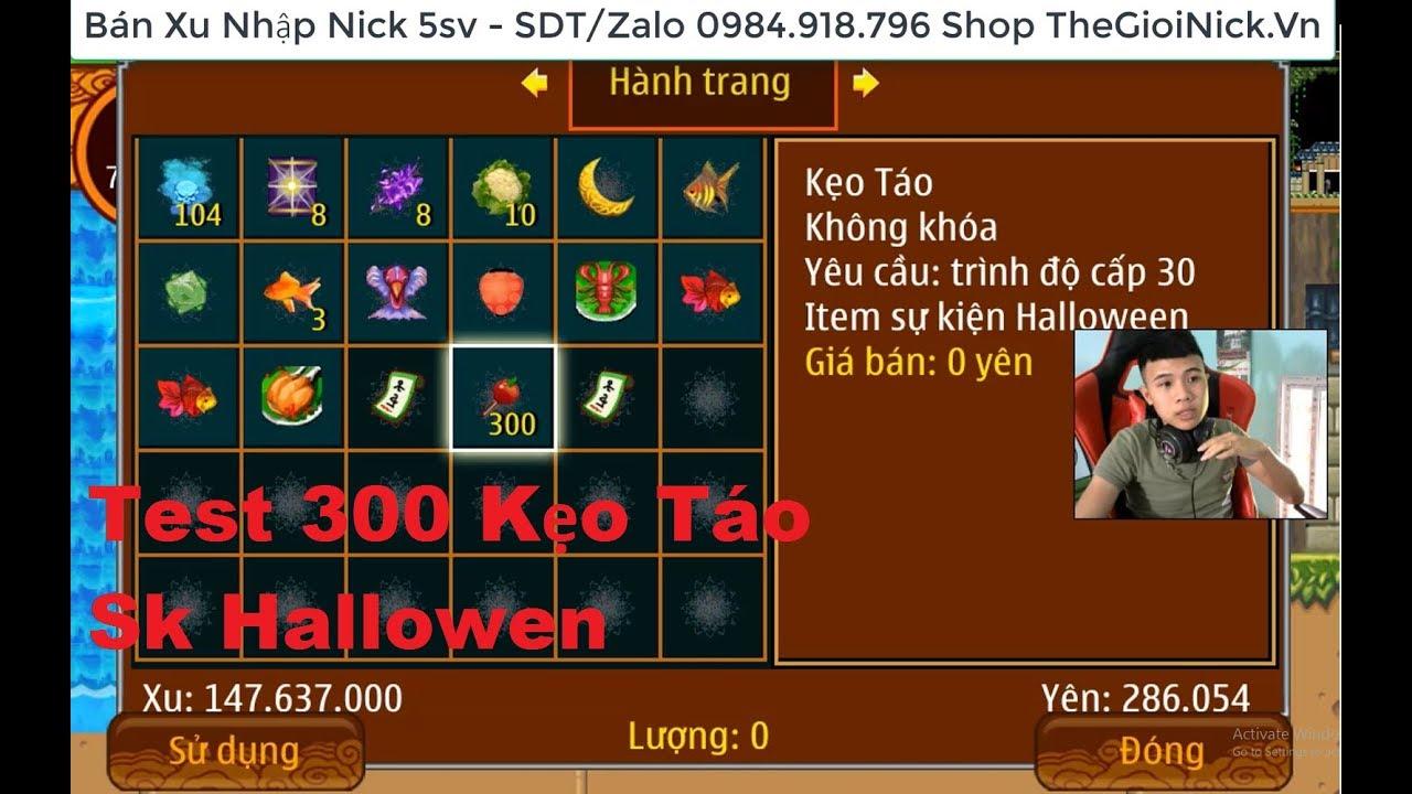 Ninja School Online | Test 300 Chiếc Kẹo Táo Sự Kiên Hallowen 2018 - Cái  Kết Không Ngờ