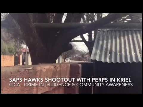 South African Police Hawks in shootout with violent criminals in Kriel Mpumalanga