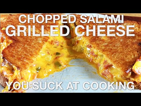 Chopped Salami Grilled Cheese – You Suck at Cooking (episode 93)
