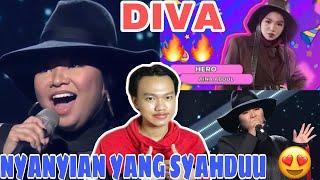 Divaa ‼️ aina abdul - hero (mariah carey)   lazada super party 2021 malaysia indonesian react