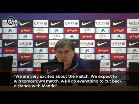 Press conference Gerardo Martino previous Madrid - Barça