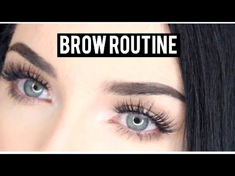 EYEBROW TUTORIAL FOR BLACK HAIR! - YouTube