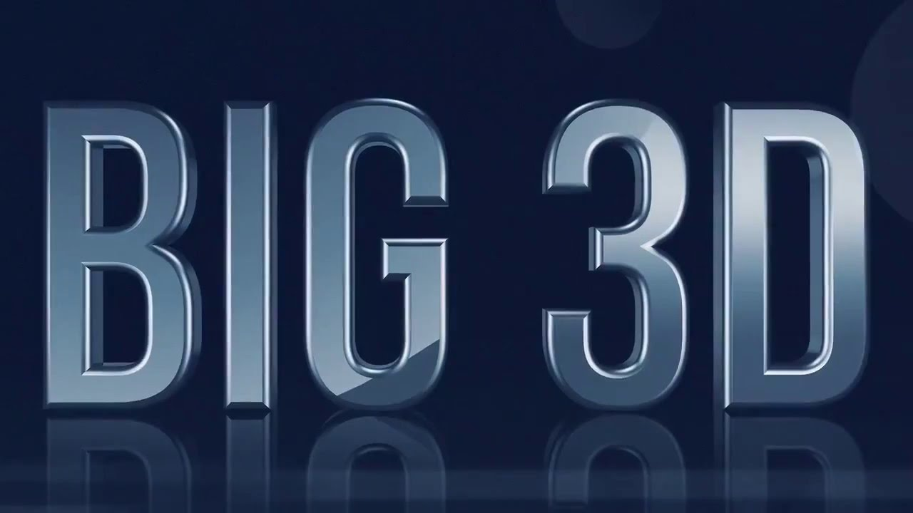 Big 3D Text After Effects Template - YouTube
