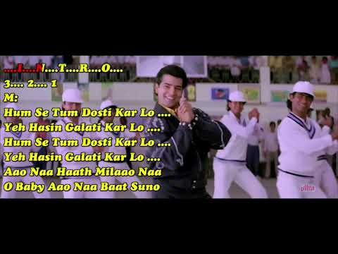 Humse Tum Dosti Karlo With Female Vocal (NARSIMHA) PAID_KARAOKE SAMPLE