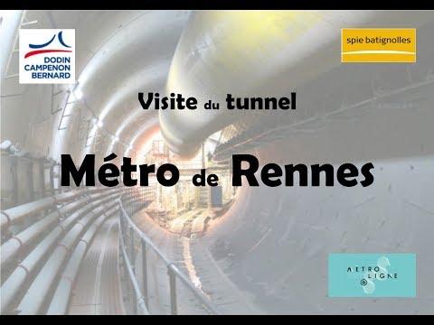 Visite du chantier de construction du métro de Rennes