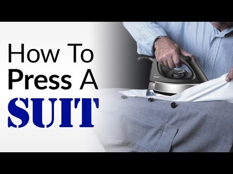 Iron Suits Without DAMAGING Them?   How To CORRECTLY Press Suit Jackets