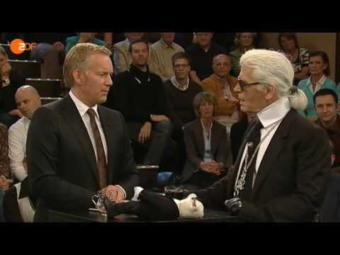 Karl Lagerfeld bei Johannes B. Kerner (3/8)