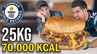 HO CUCINATO UN HAMBURGER DA 25 KG - GUINNES WORLD RECORD