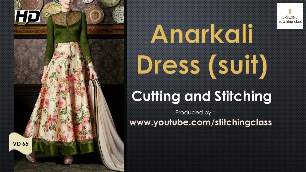 Anarkali Dress Cutting and Stitching - YouTube b9aa3f9f3