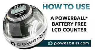 280Hz Powerball - how to use the 6 mode battery free LCD counter