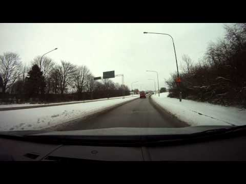 GoPro car travel to Lund from Furulund in Sweden 2013