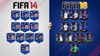 Team Of The Year ⚽ FIFA 14 - FIFA 18 Ultimate Team ⚽ Footchampion
