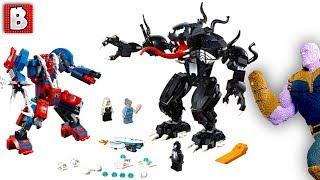 Spider-Man Mech vs. Venom Mech LEGO Set Revealed for SDCC!!! Also Giant LEGO Thanos on the way