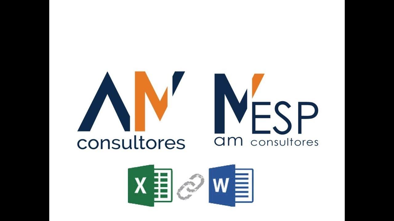 Exportar datos a Word desde Excel - Conexión WORD de MESP