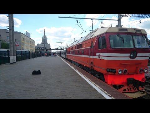 Волгоград из окна поезда (Отправление на Москву)