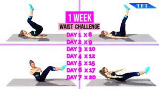 1 WEEK WAIST CHALLENGE - TEAM FITNESS TRAINING