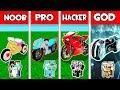Minecraft - NOOB vs PRO vs HACKER vs GOD : FAMILY BIKE in Minecraft Animation