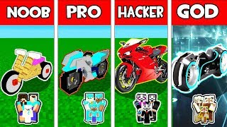 Minecraft - NOOB vs PRO vs HACKER vs GOD : FAMILY BIKE in Minecraft Animation