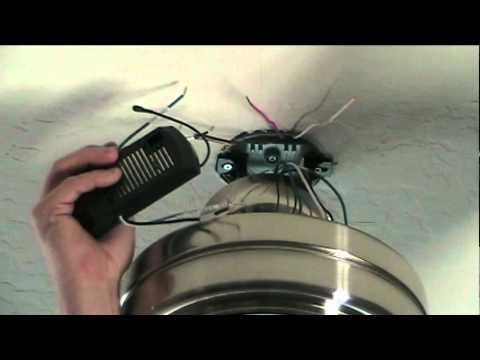 hqdefault how to install a ceiling fan with remote control youtube hunter ceiling fan remote wiring at bakdesigns.co