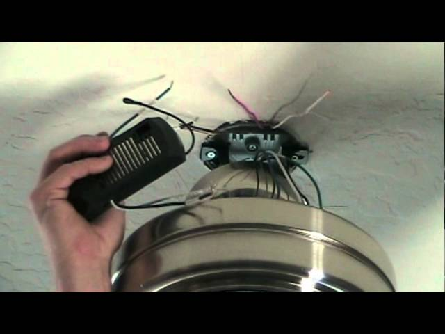 how to install a ceiling fan with remote control  youtube