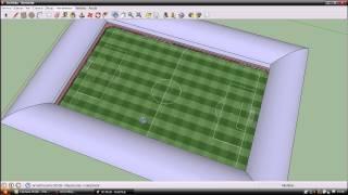 como hacer un estadio de manera facil y rapida en sketchup 8.