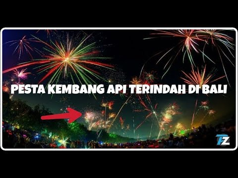Pesta Kembang Api Terindah At Kuta Beach Bali - Happy New Years 2018