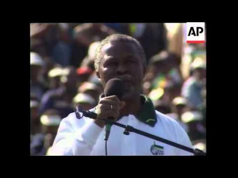 SOUTH AFRICA: ANC RALLY BIDS FAREWELL TO MANDELA