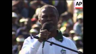 SOUTH AFRICA: ANC RALLY BIDS FAREWELL TO MANDELA