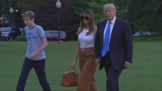 Melania and Barron Trump finally move into the White House