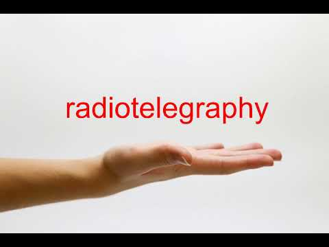 How to Pronounce radiotelegraphy - American English