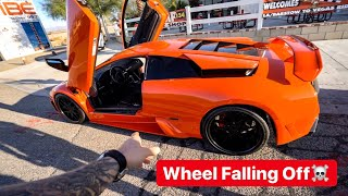 Download WHEEL FALLING OFF...FIRST DRIVE FAST & FURIOUS LAMBORGHINI!? Mp3 and Videos