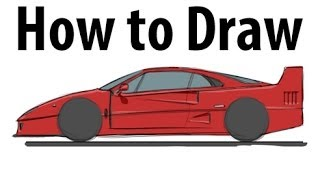 How to draw a Ferrari F40 - Sketch it quick!