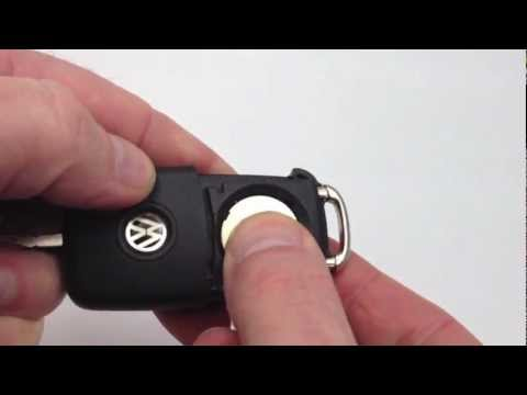 "VW key remote fob battery change - ""How to"""