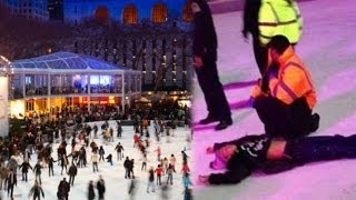 New York shooting: two men injured at ice skating rink in Manhattan