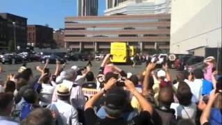 Outside TD Garden - Stanley Cup Winning Boston Bruins Arrive Home