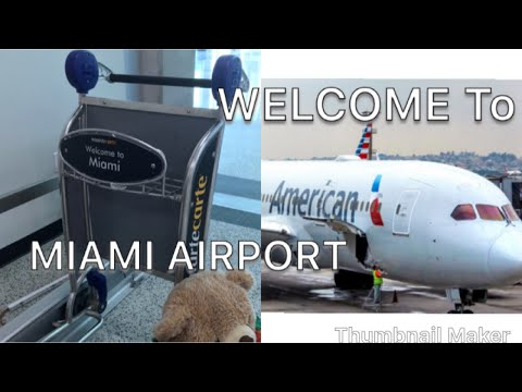 MIAMI AIRPORT/flying With American Airline