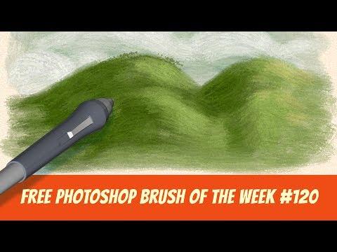 Free Photoshop Brush of The Week #120 – Impasto Oil Brush for digital painting