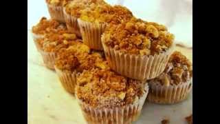 Gluten Free Muffins - Sweet Potato With Walnut Streusel