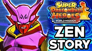 MAJIN MOVIE BOSSES ATTACK! Dragon Ball Heroes: World Mission English - Zen's Adventure Story Mode