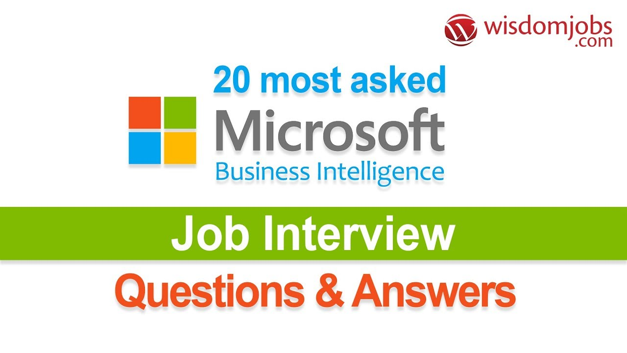 TOP 250+ MSBI Interview Questions and Answers 05 September