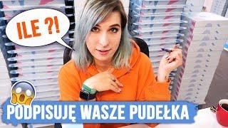 Zużyłam ponad 10 markerów! PODPISUJĘ MOJE KOSMETYKI! | Agnieszka Grzelak Vlog