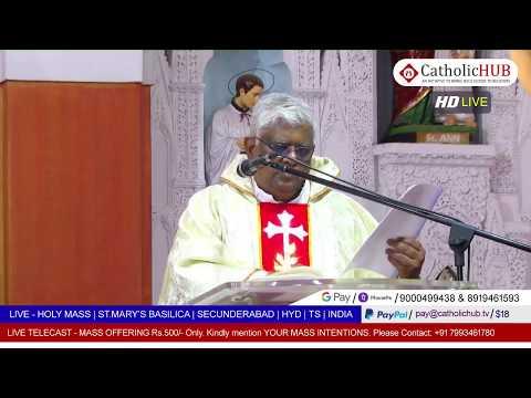 LIVE SUNDAY HOLY MASS | ST.MARY'S BASILICA | SEC BAD | HYD | TS | INDIA | 24-05-2020