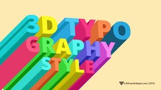 Creat 3D Typograpy - Illustrator Tutorials