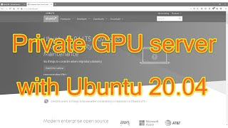 How to build GPU server with ubuntu 20.04