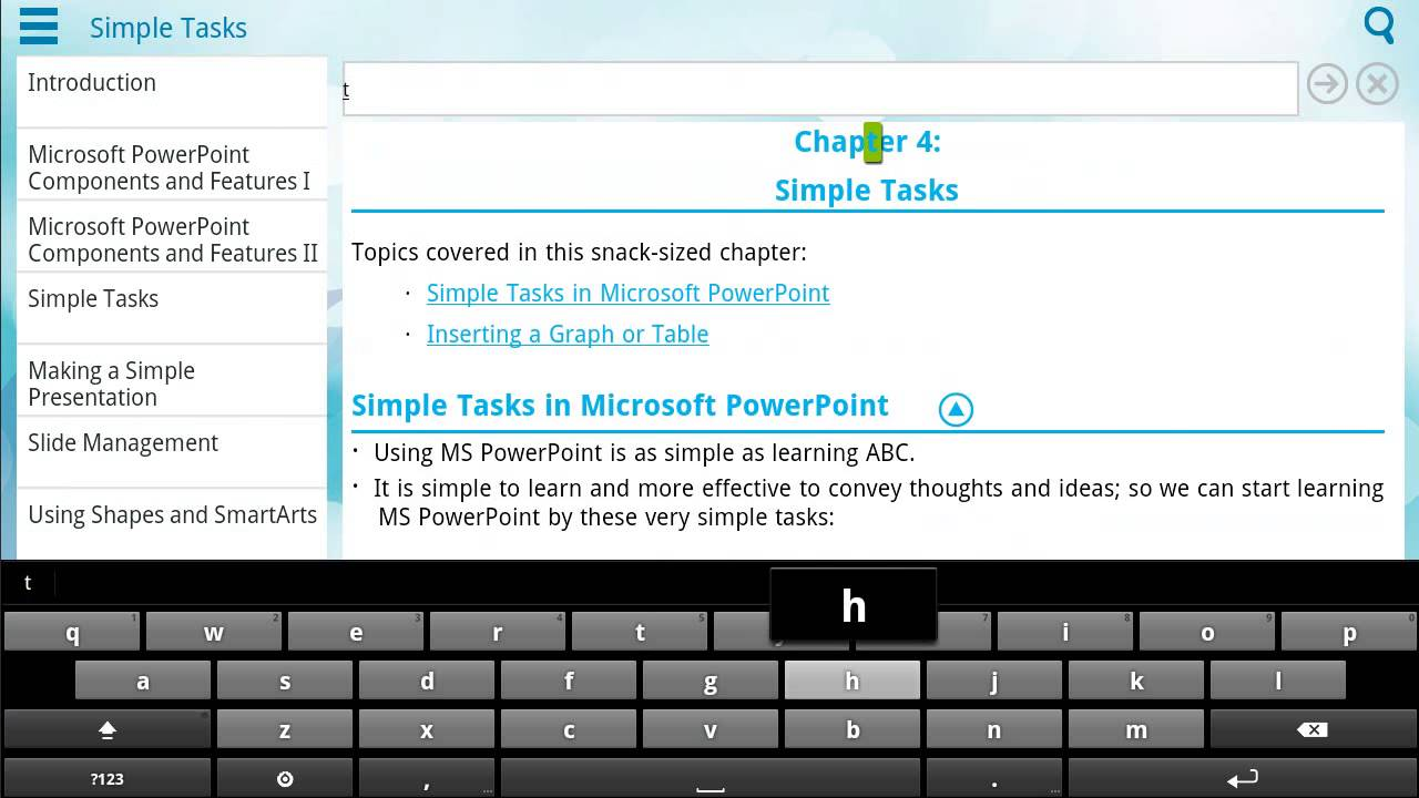 demo of learn powerpoint app on android tablet demo of learn powerpoint 101 app on android tablet