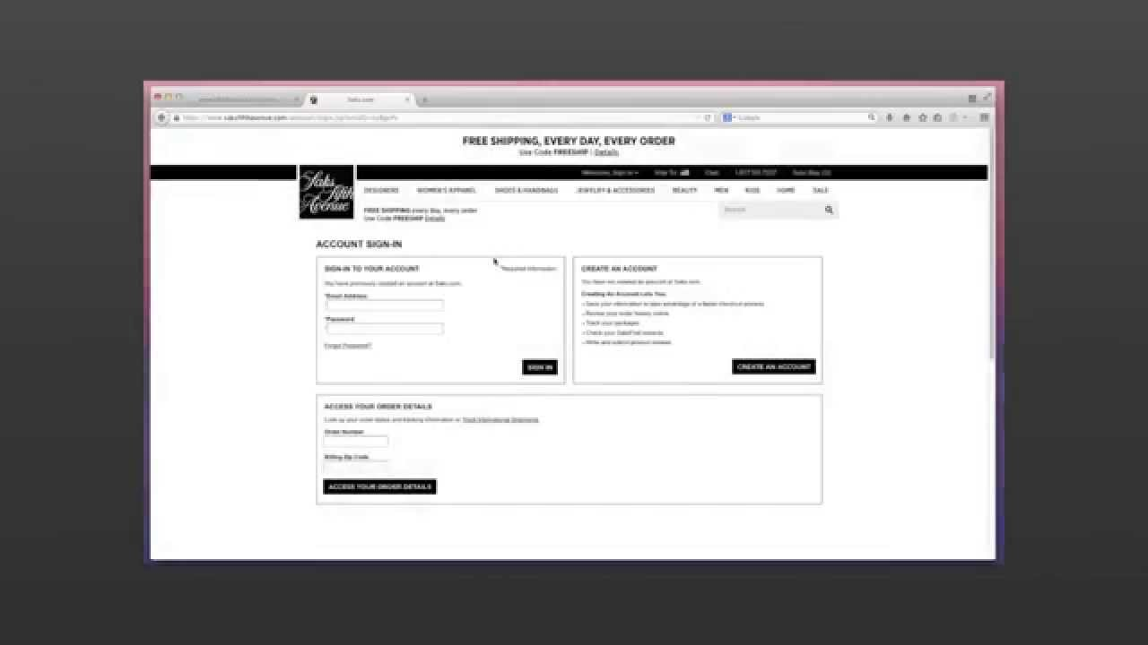 how to pay saks credit card online