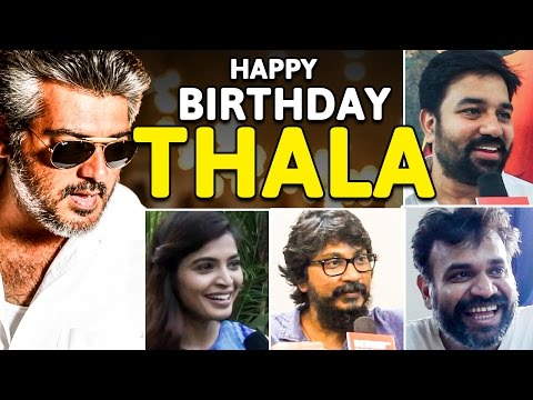 Tamil Film Celebrities Wish Thala Ajith On His Birthday! | Special Video | US 18