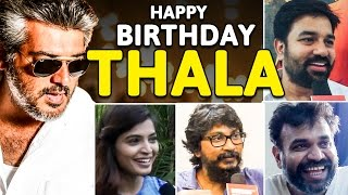 Download Video Tamil Film Celebrities Wish Thala Ajith On His Birthday! | Special Video | US 18 MP3 3GP MP4